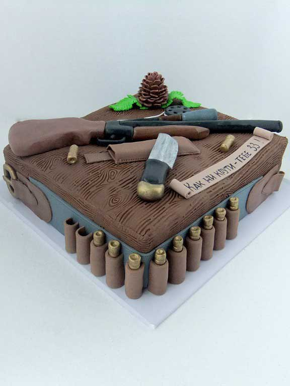 торт охотника фото