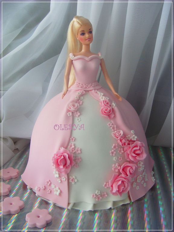 торт фото кукла